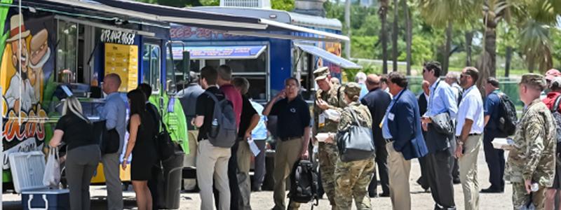 2019 SOFIC attendees at SOFlanding food trucks